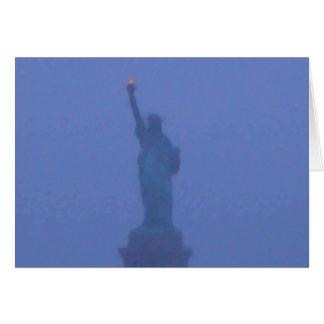 Estatua de señora Liberty The libertad los Tarjeta De Felicitación