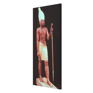 Estatua de Sesostris I con una corona blanca Lienzo Envuelto Para Galerias