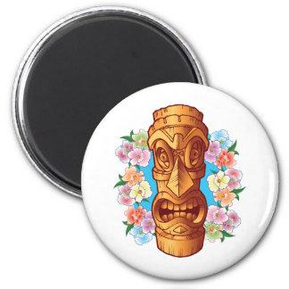 Estatua de Tiki del dibujo animado Iman De Frigorífico