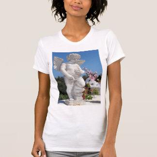 Estatua del ángel en blanco camiseta