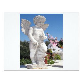 Estatua del ángel en blanco y el gris II Invitación 10,8 X 13,9 Cm