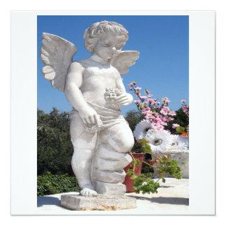 Estatua del ángel en el blanco VI Invitación 13,3 Cm X 13,3cm