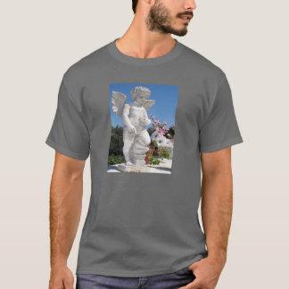 Estatua del ángel en gris oscuro camiseta