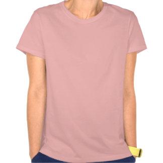 Estatua del ángel en rosa camiseta