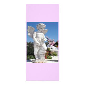 Estatua del ángel en rosado y el gris IV Invitación 10,1 X 23,5 Cm