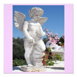 Estatua del ángel en rosado y el gris VI Invitación 13,3 Cm X 13,3cm