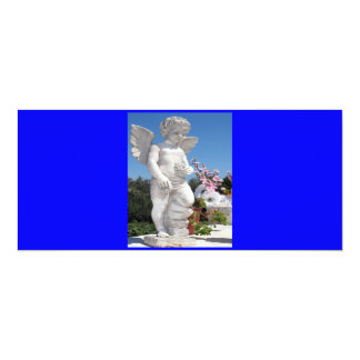 Estatua del ángel en V azul Invitación 10,1 X 23,5 Cm