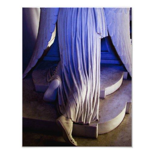 Estatua del ángel que llora impresion fotografica