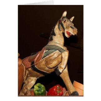 Estatua del caballo y decoración mexicana En Tarjeta De Felicitación