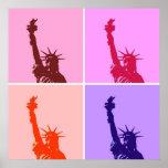 Estatua del estilo del arte pop del poster de la