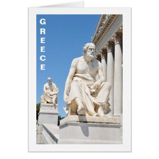 Estatua del filósofo griego tarjeta