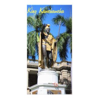 estatua del kamehameha del rey tarjeta fotográfica personalizada