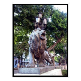 estatua del león de La Habana Tarjeta Postal