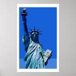 Estatua del poster del arte pop de la libertad