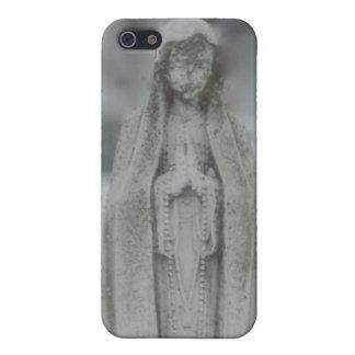 Estatua del Virgen María del mármol iPhone 5 Cobertura