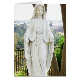 Estatua del Virgen María Tarjeton