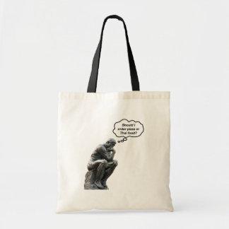 ¿Estatua divertida del pensador de Rodin - pizza o