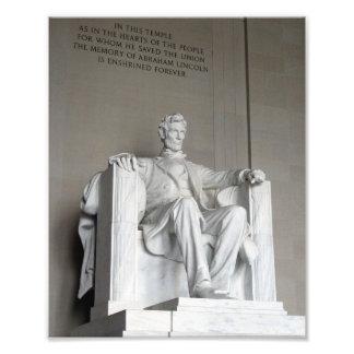 Estatua el Lincoln memorial Washington de Abraham Foto