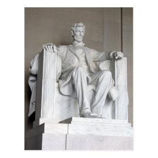 Estatua el Lincoln memorial Washington de Abraham Postal