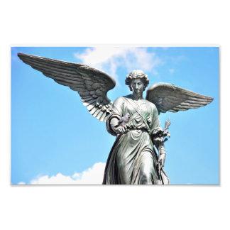 Estatua en Central Park, NY de la fuente de Arte Fotográfico