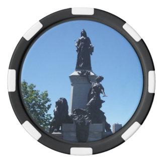 Estatua en fichas de póker de la ciudad de