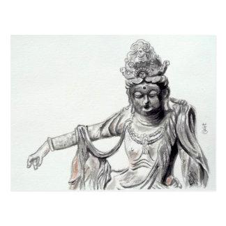 Estatua oriental -2 postales