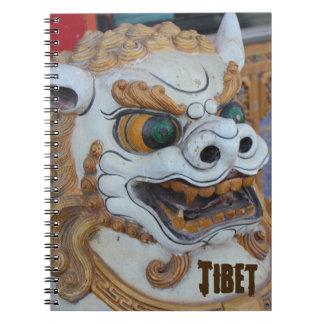 Estatua tibetana del león de la nieve libretas