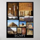 Estatuas de las pirámides de la arqueología de póster