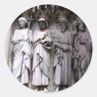 Estatuas del corcho, Irlanda Pegatina Redonda