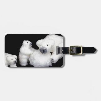 Estatuillas de la familia de los osos polares que etiqueta para maletas