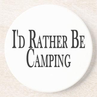 Esté acampando bastante posavasos personalizados