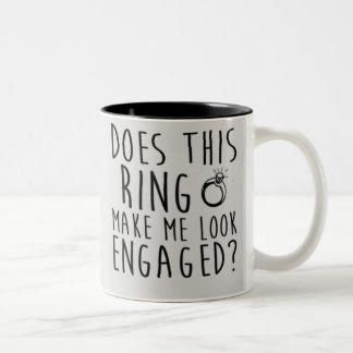 ¿Este anillo hace que parece enganchado? Taza De Café De Dos Colores