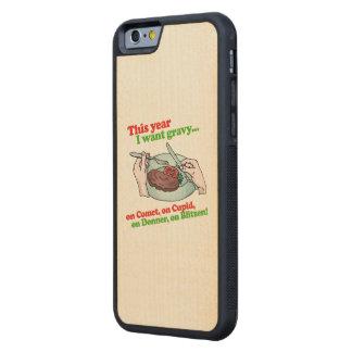 Este año quiero la salsa - humor del día de fiesta funda de iPhone 6 bumper arce