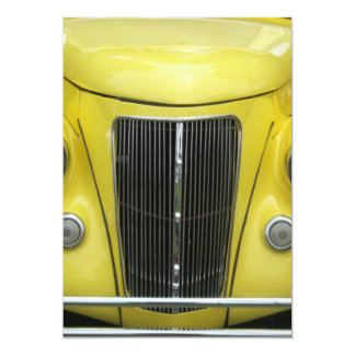 Este auto clásico tiene una parrilla delantera invitación 12,7 x 17,8 cm