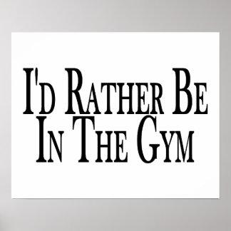 Esté bastante en el gimnasio póster