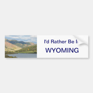 Esté bastante en el pegatina de Wyoming Pegatina Para Coche