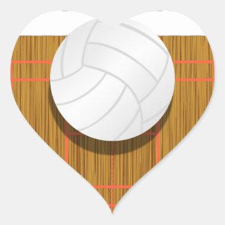 Esté bastante en la corte de voleibol pegatina en forma de corazón