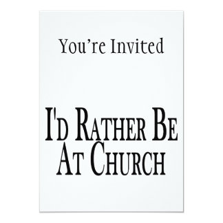 Esté bastante en la iglesia invitación 12,7 x 17,8 cm