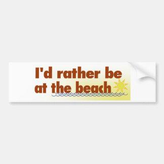 Esté bastante en la playa pegatina para coche