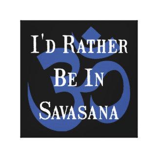 Esté bastante en Savasana Lona Estirada Galerias