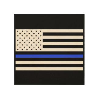 Este Blue Line señala el arte por medio de una Cuadros De Madera