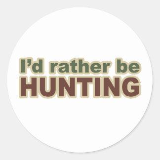 Esté cazando bastante etiqueta redonda