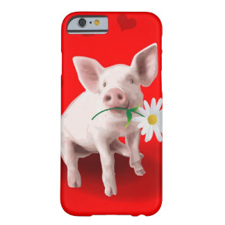 Este cerdo en caso del iPhone 6 del amor Funda Para iPhone 6 Barely There