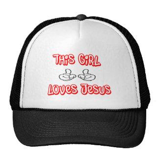 Este chica ama a Jesús Gorro De Camionero