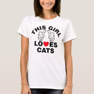 Este chica ama gatos camiseta