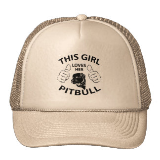 """Este chica ama negro de su pitbull"" Gorras De Camionero"