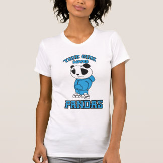 Este chica ama pandas camisetas