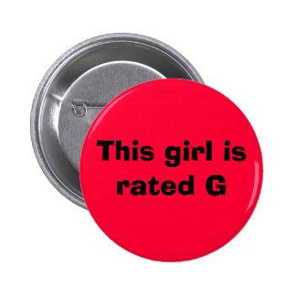 Este chica es G clasificado Chapa Redonda 5 Cm