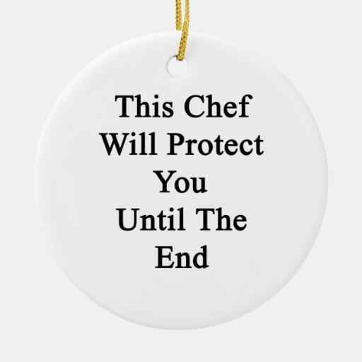 Este cocinero le protegerá hasta el extremo ornamente de reyes