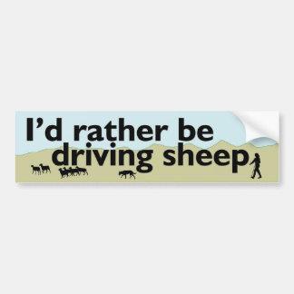 Esté conduciendo bastante ovejas pegatina de parachoque